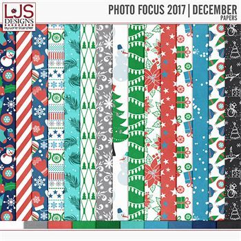 Photo Focus 2017 - December Papers Digital Art - Digital Scrapbooking Kits