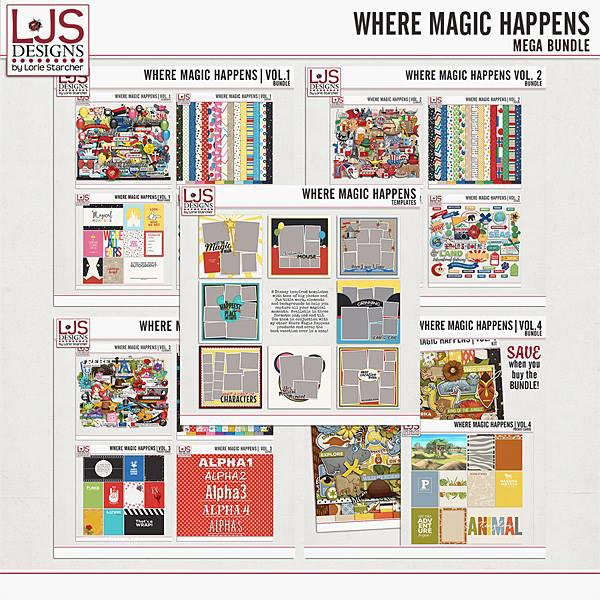 Where Magic Happens - Mega Bundle Digital Art - Digital Scrapbooking Kits