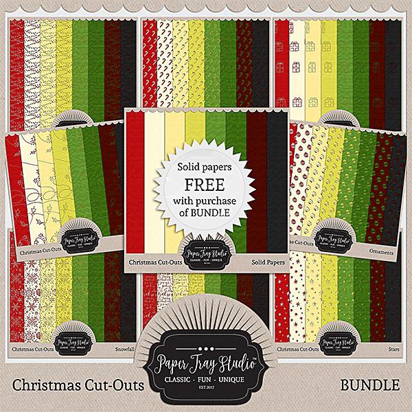 Christmas Cut-outs - Discounted Bundle Digital Art - Digital Scrapbooking Kits