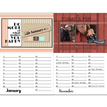 Perpetual Calendar Template X  Digital Art