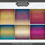 Winter Sparkle Ombre Sparkle Papers