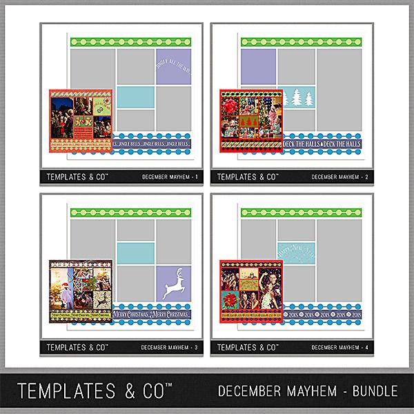 December Mayhem Bundle Digital Art - Digital Scrapbooking Kits