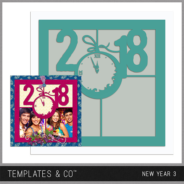 New Year 3 Digital Art - Digital Scrapbooking Kits