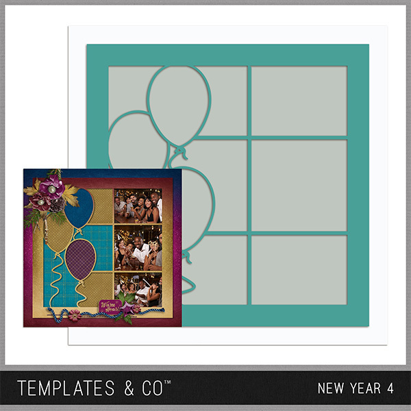 New Year 4 Digital Art - Digital Scrapbooking Kits