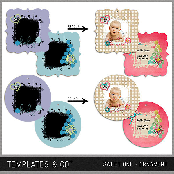 Sweet One Ornament Digital Art - Digital Scrapbooking Kits