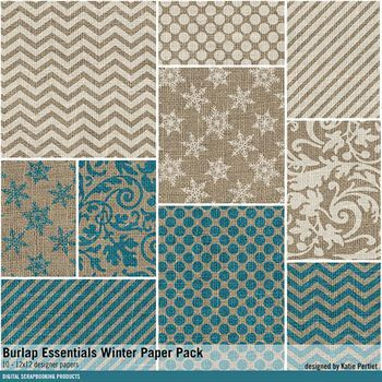Burlap Essentials Winter Paper Pack