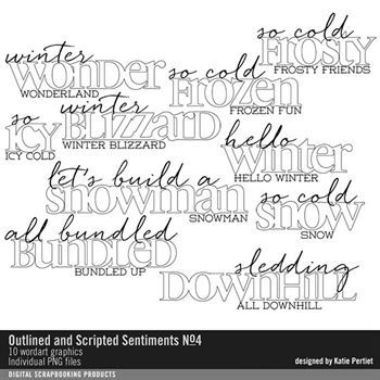 Outlined And Scripted Sentiments Brushes And Stamps No. 04