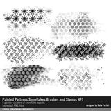 Painted Patterns Snowflakes Brushes And Stamps No. 01