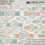 Happy Days Date Tags
