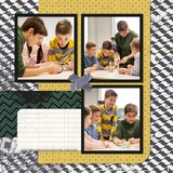 Tattered Flannel 12x12 Predesigned Pages