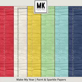 Make My Year - Paint & Sparkle Papers