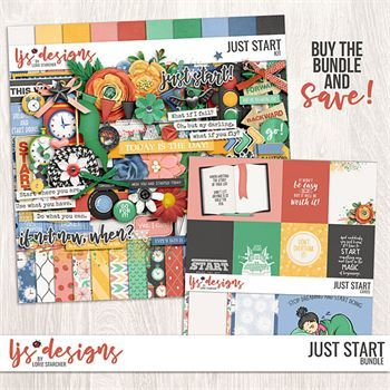 Just Start - Bundle Digital Art - Digital Scrapbooking Kits