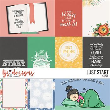 Just Start - Cards Digital Art - Digital Scrapbooking Kits
