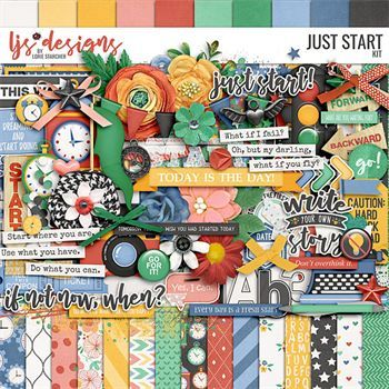 Just Start - Kit Digital Art - Digital Scrapbooking Kits