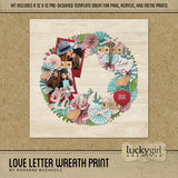 Love Letter Wreath Print