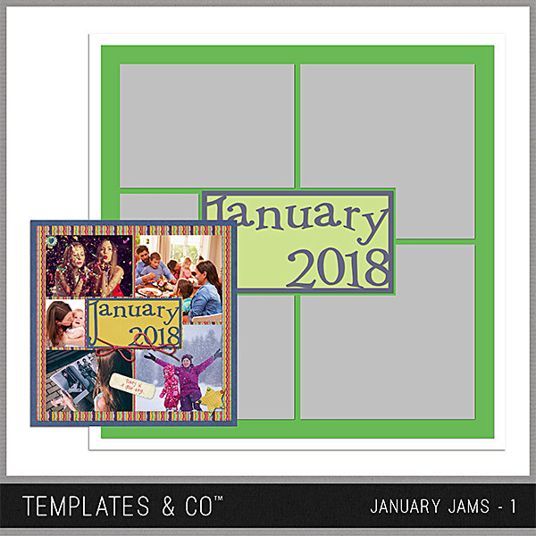 January Jams 1 Digital Art - Digital Scrapbooking Kits