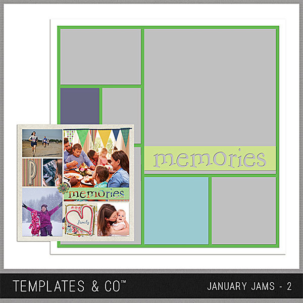 January Jams 2 Digital Art - Digital Scrapbooking Kits