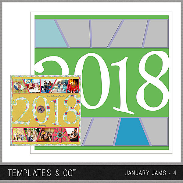 January Jams 4 Digital Art - Digital Scrapbooking Kits