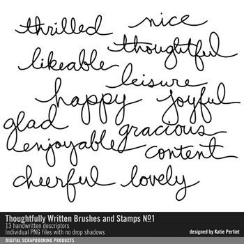 Thoughtfully Written Brushes And Stamps No. 01