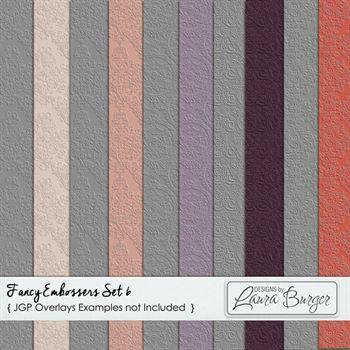 Fancy Embossers Set 6 Digital Art - Digital Scrapbooking Kits