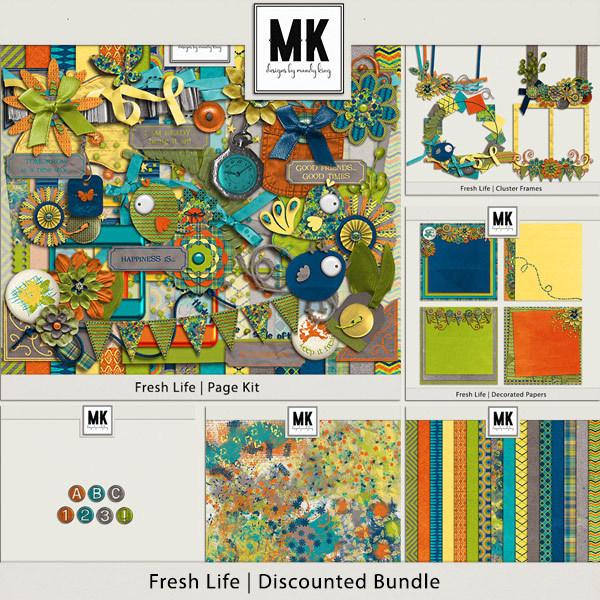 Fresh Life - Discounted Bundle Digital Art - Digital Scrapbooking Kits