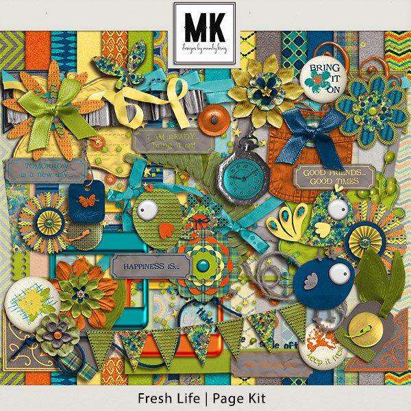 Fresh Life - Page Kit Digital Art - Digital Scrapbooking Kits