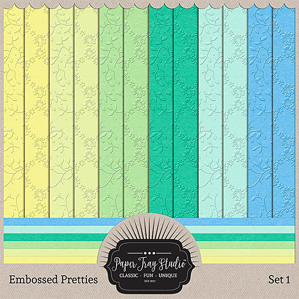 Embossed Pretties - Set 1