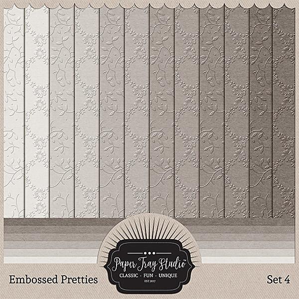Embossed Pretties - Set 4 Digital Art - Digital Scrapbooking Kits