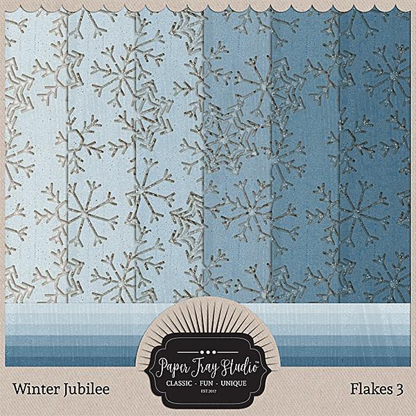 Winter Jubilee - Flakes 3 Digital Art - Digital Scrapbooking Kits