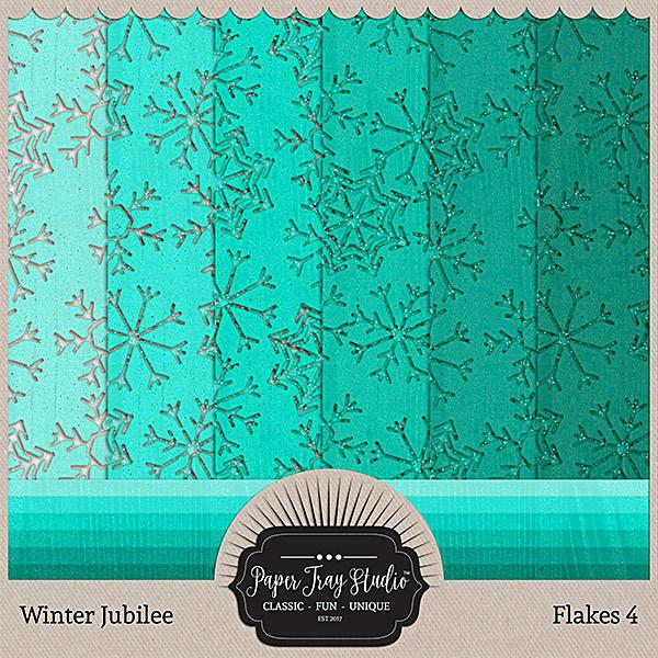 Winter Jubilee - Flakes 4 Digital Art - Digital Scrapbooking Kits