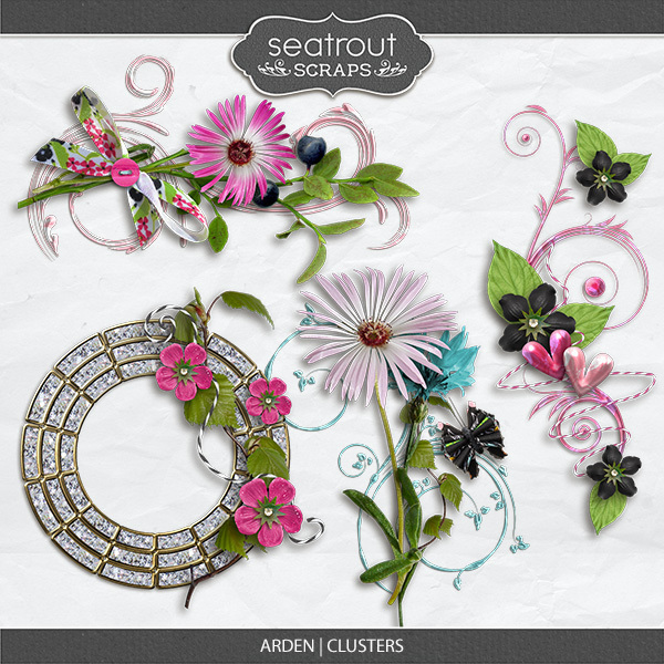 Arden Clusters Digital Art - Digital Scrapbooking Kits