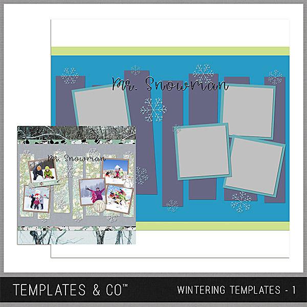 Wintering Templates 1 Digital Art - Digital Scrapbooking Kits