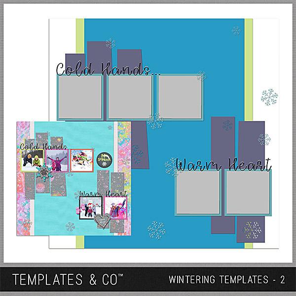 Wintering Templates 2 Digital Art - Digital Scrapbooking Kits