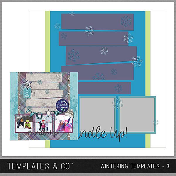 Wintering Templates 3 Digital Art - Digital Scrapbooking Kits
