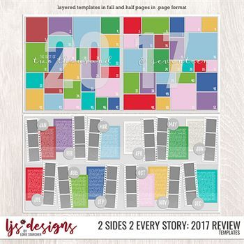 2 Sides 2 Every Story - 2017 Review Digital Art - Digital Scrapbooking Kits