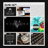 Yearbook Essentials 2018 (black) Card Kit 2