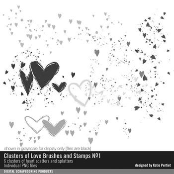 Clusters Of Love Brushes And Stamps No. 01