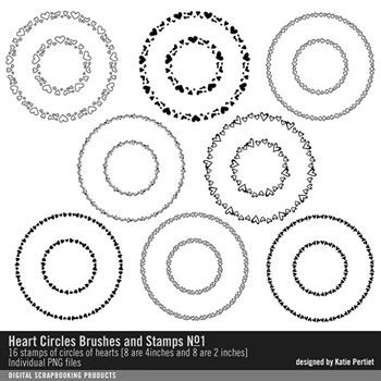 Heart Circles Brushes And Stamps No. 01