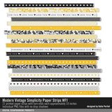 Modern Vintage Simplicity Paper Strips No. 01