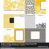 Modern Vintage Simplicity Printable Pocket Cards No. 01