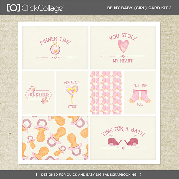 Be My Baby Girl Card Kit 2