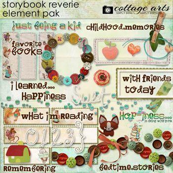 Storybook Reverie Element Pak Digital Art - Digital Scrapbooking Kits