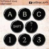 Tattered Love Alphaset