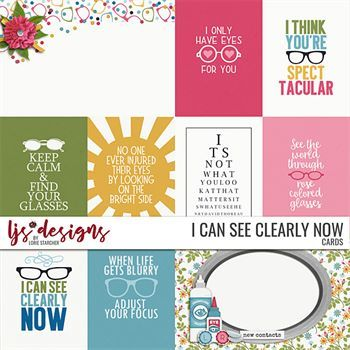 I Can See Clearly Now - Cards Digital Art - Digital Scrapbooking Kits