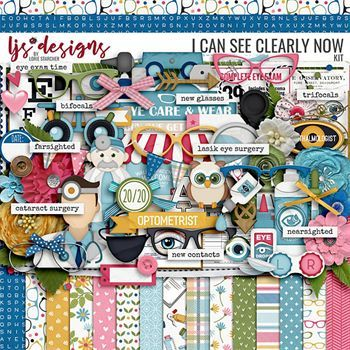 I Can See Clearly Now - Kit Digital Art - Digital Scrapbooking Kits