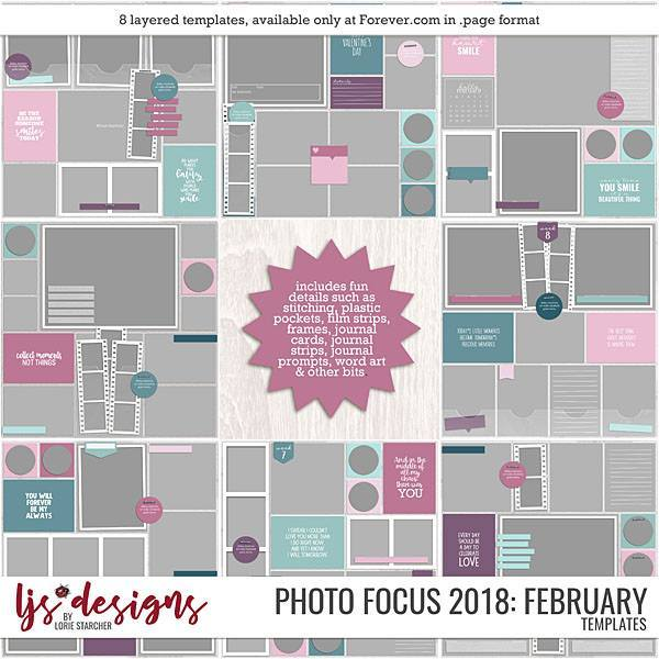 Photo Focus 2018 - February Digital Art - Digital Scrapbooking Kits