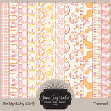 Be My Baby Girl - Themed Papers