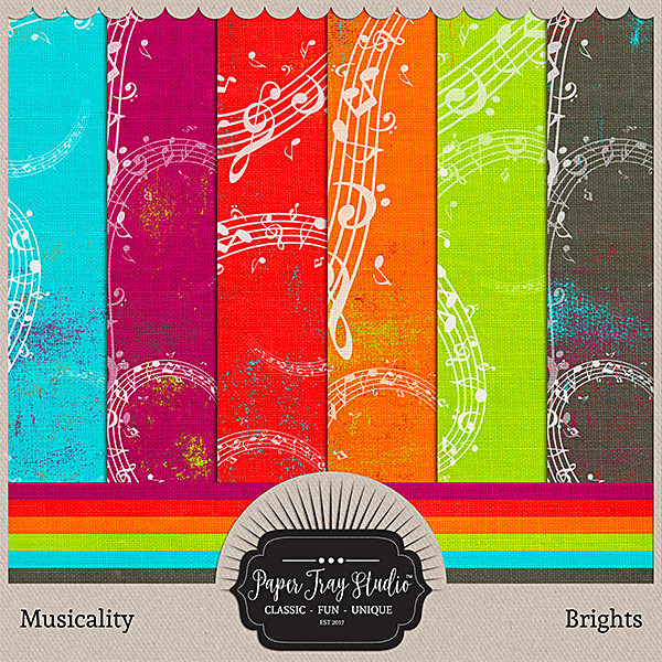 Musicality - Brights Digital Art - Digital Scrapbooking Kits
