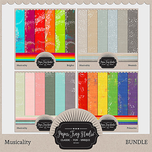 Musicality - Bundle Digital Art - Digital Scrapbooking Kits