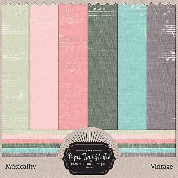 Musicality - Vintage Digital Art - Digital Scrapbooking Kits